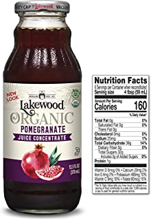 Lakewood Organic Concentrate Juice, Pomegranate, 12.5 Ounce (Pack of 6)