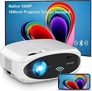 Sponsored Ad - WiFi Projector Bluetooth 7500L Full HD 1080P Projector, XOPPOX Outdoor Movie Projector Video, Wireless Mirr...