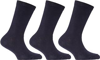 Severyn, Calcetines de algodón lisos de uniforme escolar para niños (pack de 3)