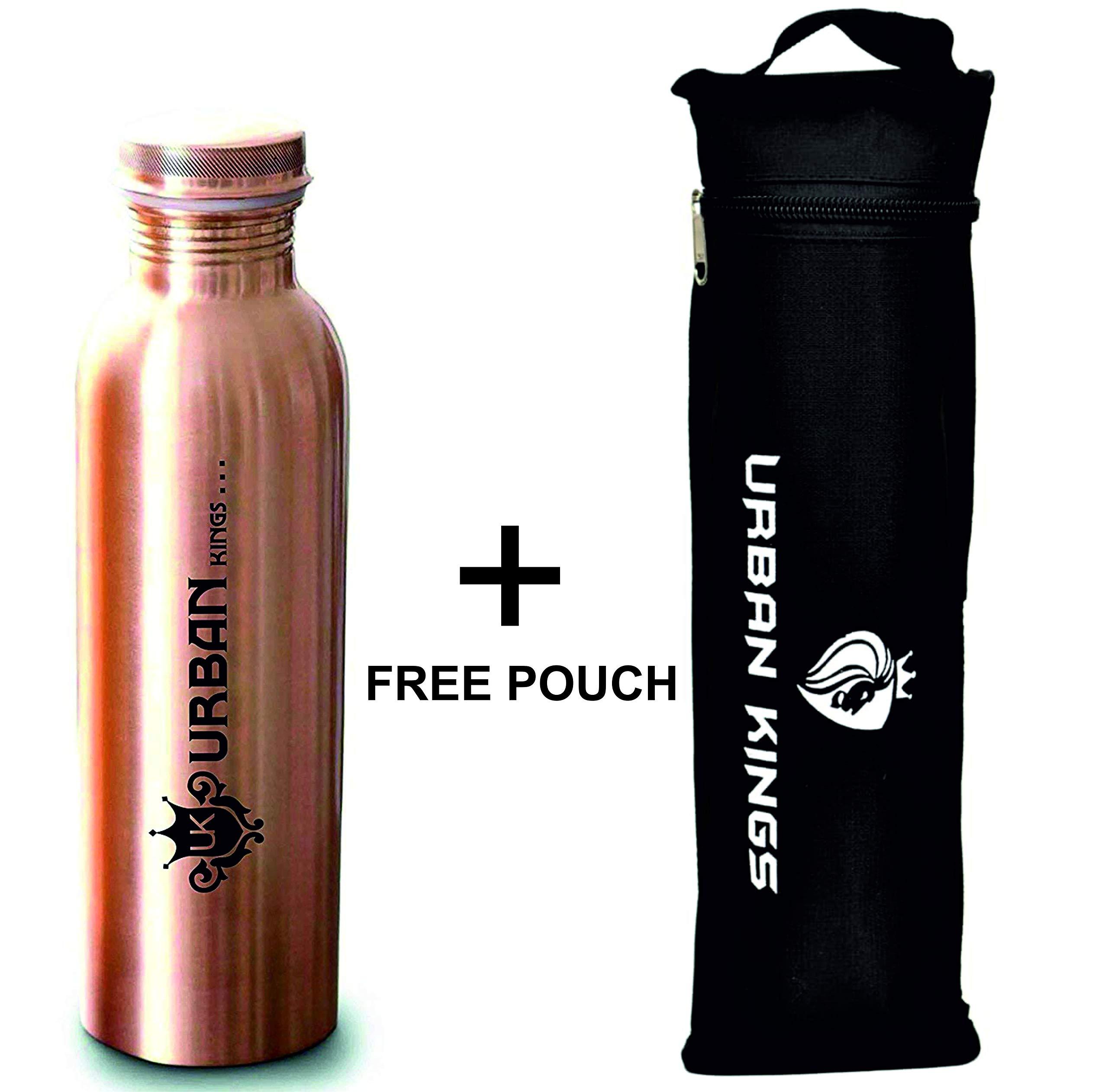 Pure Copper Water Bottle Ayurvedic Health Benefits Joint Free Leak Proof 1000ml