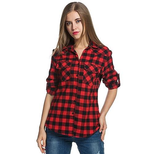 9a62e64cd0a Checked Shirts for Women: Amazon.co.uk