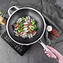 Kitchen Cookware 304 Stainless Steel Wok Uncoated Two-Sided Five-Layer Steel Wok Pan Cooking Pot Cast Iron Skillet Wok Too...