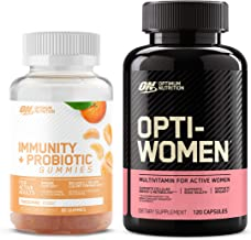 Optimum Nutrition Immunity & Probiotic Gummies, Immune and Digestive Health Support (60 Count), with Opti-Women, Womens Da...