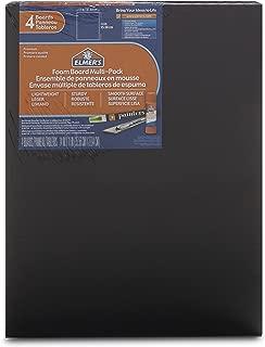 Elmer's Foam Boards, 11 x 14 Inches, Black/Black Core, 4-Count (950024)