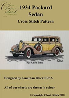 1934 Packard Sedan Cross Stitch Pattern