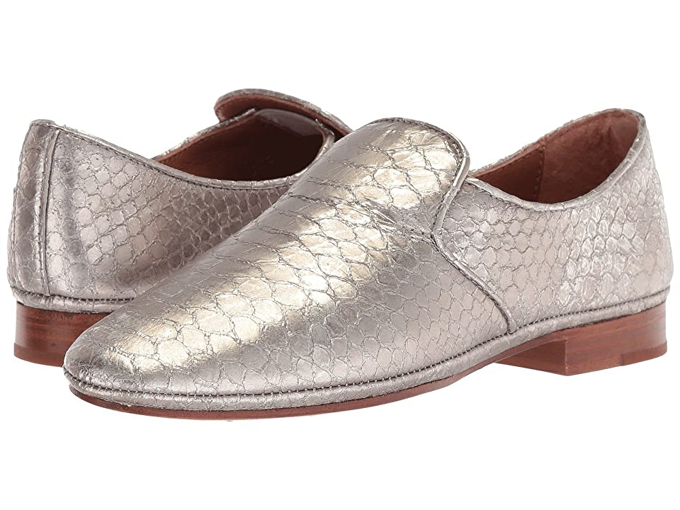 Frye Ashley Slip-On (Silver Metallic) Women
