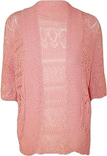 2c1d5191b Crazy Girls Womens Crochet Knitted Bolero Shrug Open Cardigan Top Plus Sizes