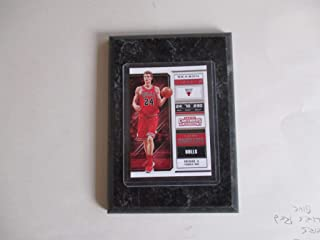 LAURI MARKKANEN CHICAGO BULLS PANINI CONTENDERS NBA 2018 (RED JERSEY) PLAYER CARD MOUNTED ON A 4
