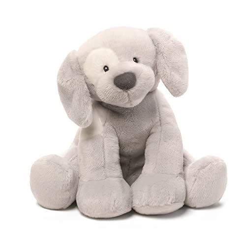 Baby GUND Spunky Dog Keywind Musical Stuffed Animal Plush, Gray, 8""