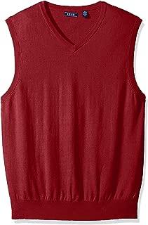 Men's Premium Essentials Solid V-Neck 12 Gauge Sweater Vest