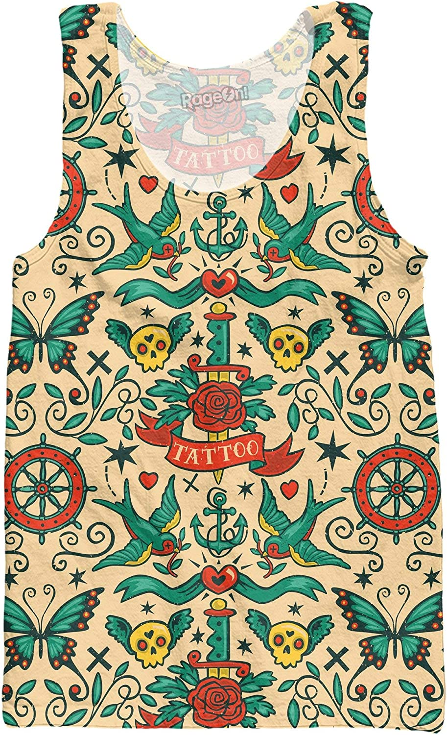 RageOn Steve Simpson Tattoo Premium All Over Print Tank Top