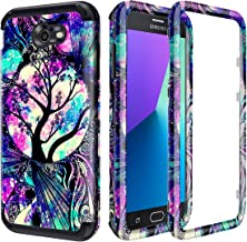 Lamcase Samsung Galaxy J7 2017 Case (Not Fit J7 2018) J7 Prime/J7 V/J7 Perx/J7 Sky Pro/Galaxy Halo Case Shockproof Dual Layer PC & Silicone High Impact Bumper Armor Protective Cover, Life Tree