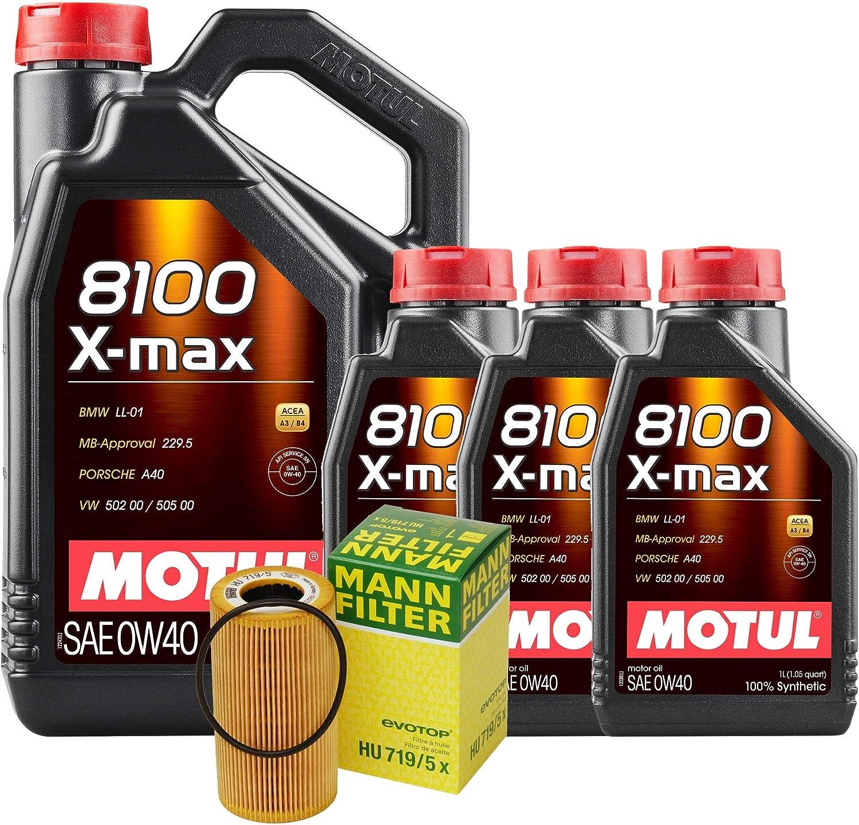 Newparts 8L 8100 X-MAX 0W-40 Filter Wholesale C Change Max 55% OFF 07-08 Motor Oil Kit