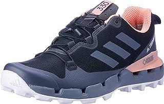 adidas Australia Women's Terrex Fast GTX-Surround Hikings Shoes, Core Black/Grey/Chalk Coral