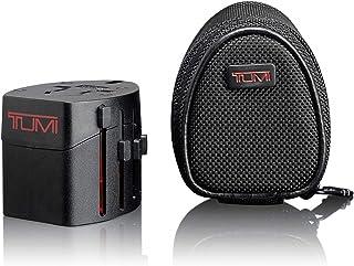 TUMI - Luggage Electric Travel Adaptor Plug with Ballistic Case - International Universal AC USB Power Converter - Black