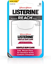 Listerine Gentle Gum Care Interdental Floss for Sensitive Gums, Oral Care, Mint, 50 Yards (Pack of 3)