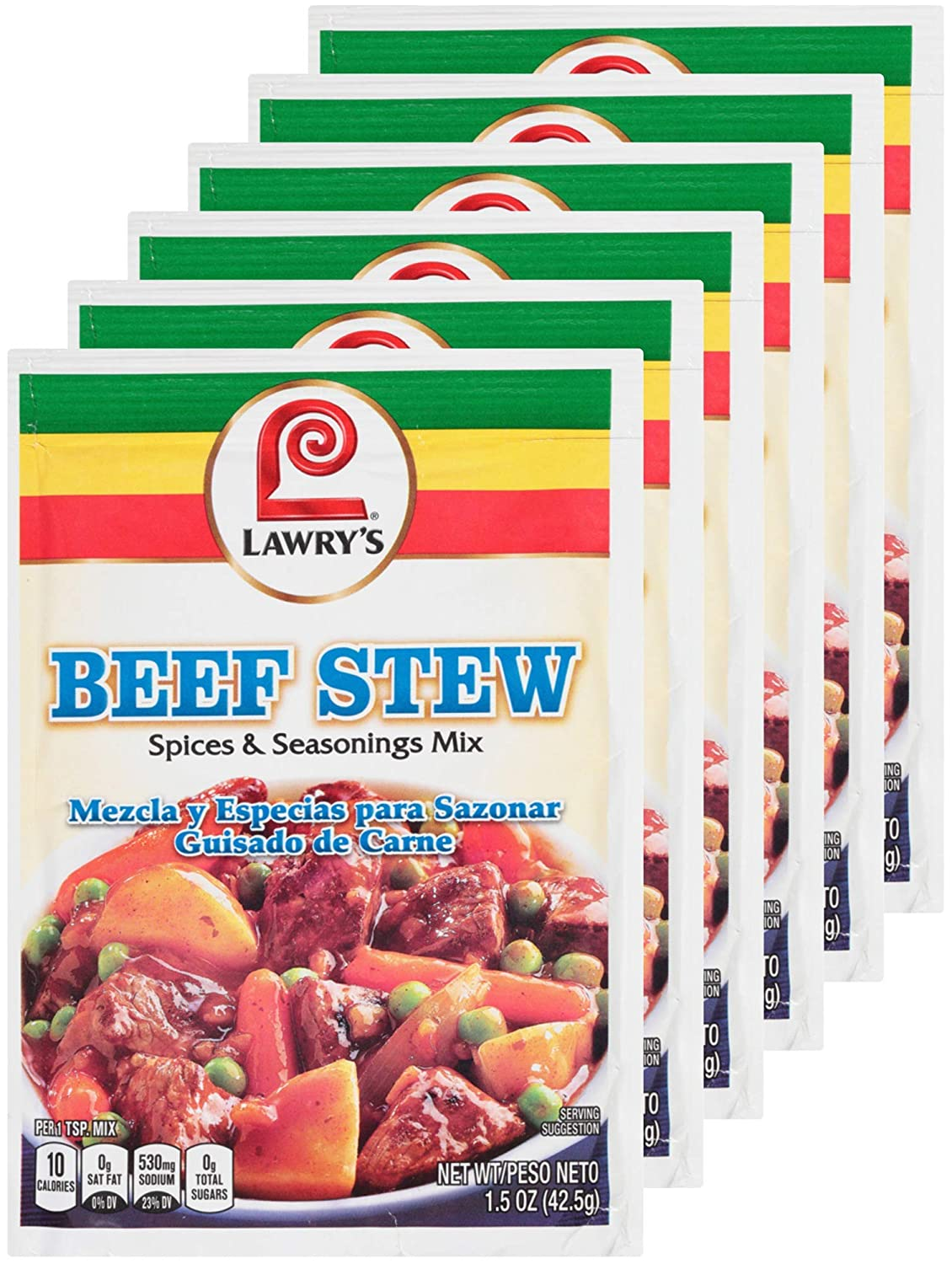 LAWRY'S Spices Seasonings Beef Stew of 6 1.5 OZ Max 64% OFF San Antonio Mall Pack