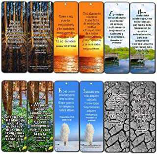 Spanish Wisdom Bible Verses Cards (60 Pack) - Great Gift for Men Women with Inspirational Messages