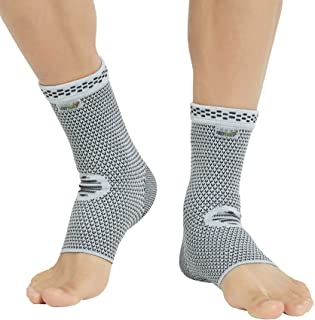 Neotech Care Ankle Support Sleeve (1 Pair) - Bamboo Fiber Knitted Fabric - Light, Elastic & Breathable - Medium Compressio...