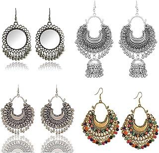 Metallic Women's Earrings: Buy Metallic Women's Earrings online at best  prices in India - Amazon.in