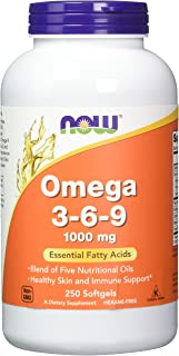 Now Foods Omega 3-6-9 1000 mg 250 Softgels (Pack of 2)