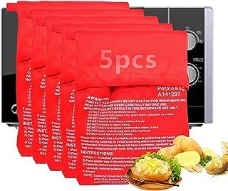 5 Pièces Sac de Cuisson Pomme de Terre,Sac de Cuisson Micro Ondes,Sac pour Pommes de Terre au Four,Micro-Ondes pour Pommes...