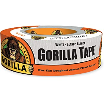 """Gorilla White Duct Tape, 1.88"""" x 30 yd, White, (Pack of 1)"""