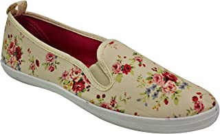 Take A Walk Womens Fashion Canvas Slip-on Shoe