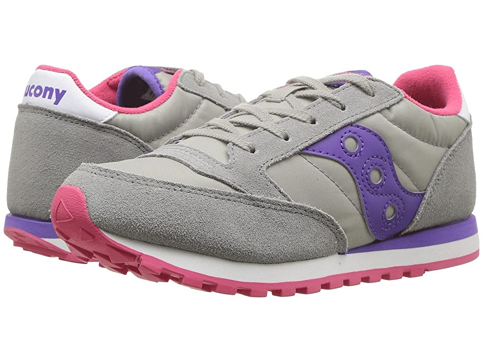 Saucony Kids Jazz Original (Little Kid) (Grey/Purple) Girls Shoes