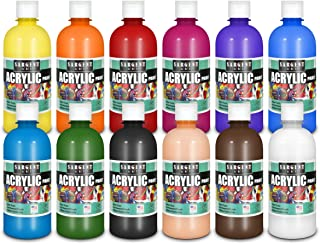 Sargent Art 24-2498 Count Artist Quality Acrylic Paint Set, 12 Different Colors, Assorted