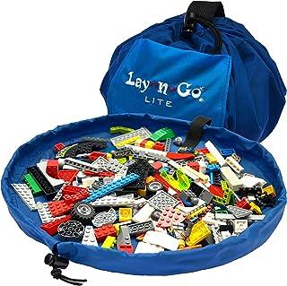 Lay-n-Go Building Block Mat, Building Block Bag Storage, Drawstring Bag, Playmat for Babies, Toddler's, Toy Storage Bag, B...