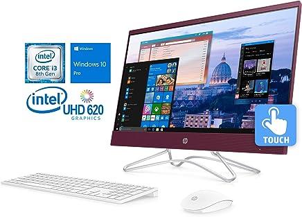 HP Pavilion 24 Desktop All-in-One, Intel Quad-Core i3-8100T 3.1GHz, 8GB RAM, 128GB SSD, DVD-RW, HDMI, Card Reader, Wi-Fi, Bluetooth, Windows 10 Pro