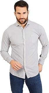 Jack Stuart - Camisa de Piqué para Hombre, 100% Algodón