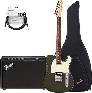 Fender Player Telecaster PF Olive w/3-Ply Mint Pickguard (CME Exclusive) Essentials Bundle