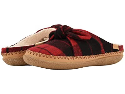 TOMS Ivy (Red Plaid Felt/Bow) Women