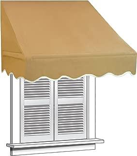 ALEKO WAW4X2SAND31 Window Canopy Awning 4 x 2 Feet Sand