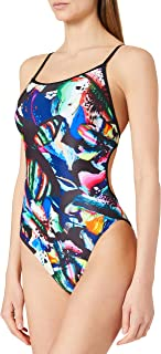 ARENA W Colourful Paintings Lace Back One Piece Bañador Mujer