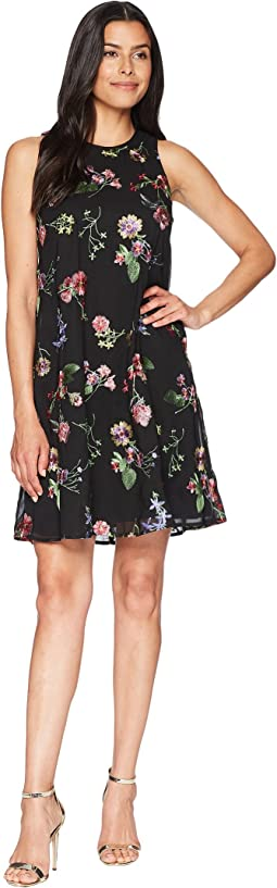 Embroidered Trapeze Dress CD8H47NJ