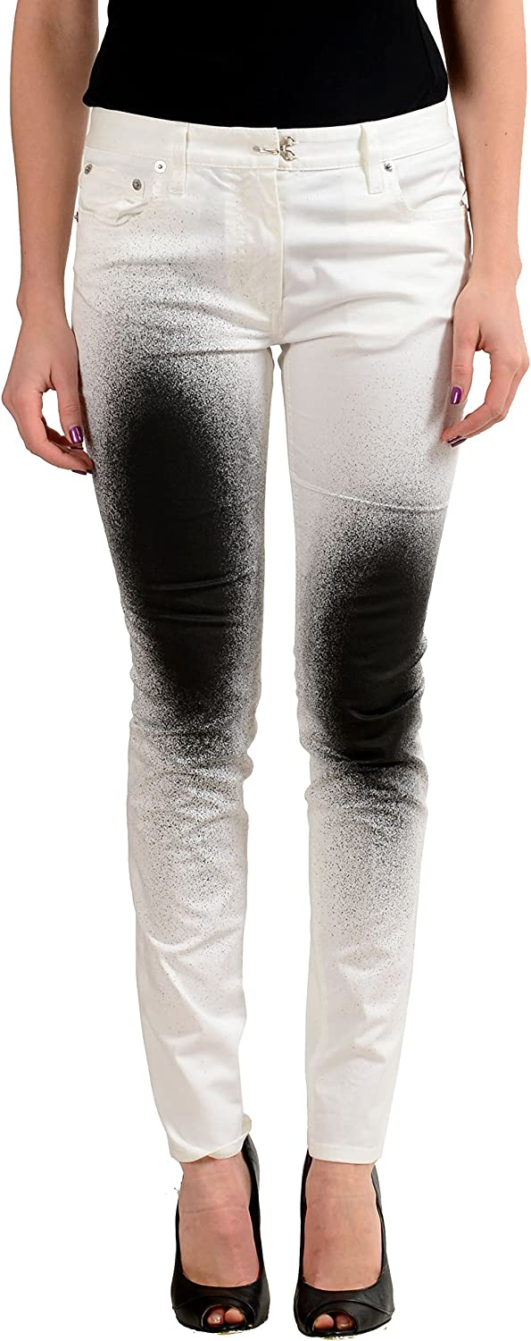 Maison Margiela 4 White Distressed Women's Slim Fit Skinny Jeans US S IT 40
