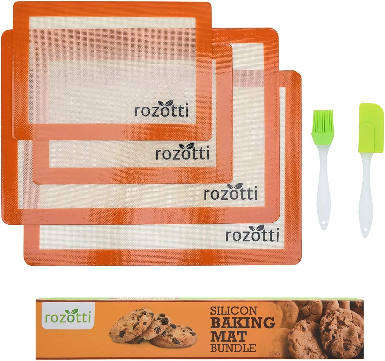 Rozotti Silicone Baking Regular discount Mat Bundle 6-Piece Sheets Set S Max 77% OFF Half 2