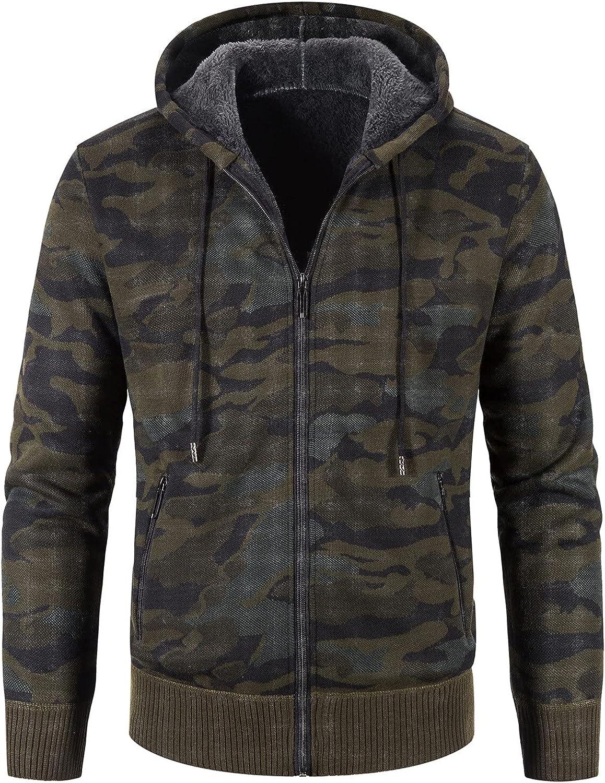 Mens Winter Turtleneck Zipper Long Sleeve Knitted Sweater Top Outwear Coat Sports Coat
