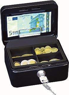 Wedo 145121H Caissette à monnaie à 4 compartiments avec clip 15,2 x 11,5 x 8 cm Noir