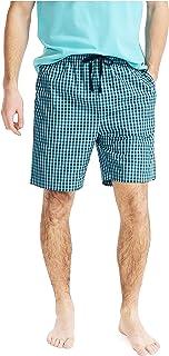 Nautica Men's Soft Woven 100% Cotton Elastic Waistband Sleep Pajama Shorts, Blue Mist, X-Large