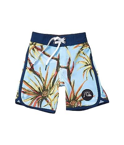 Quiksilver Kids Highline Salty Palms 14 Boardshorts (Toddler/Little Kids) (Airy Blue) Boy