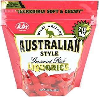 Wiley Wallaby Australian Gourmet Style Red Licorice Candy 32 Oz. 2 LB (Limited Edition)