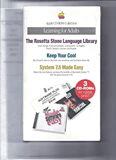 Apple CD-Rom Collection: Learning for Adults - The Rosetta Stone Language Library. Keep Your Cool, System 7.5 Made Easy