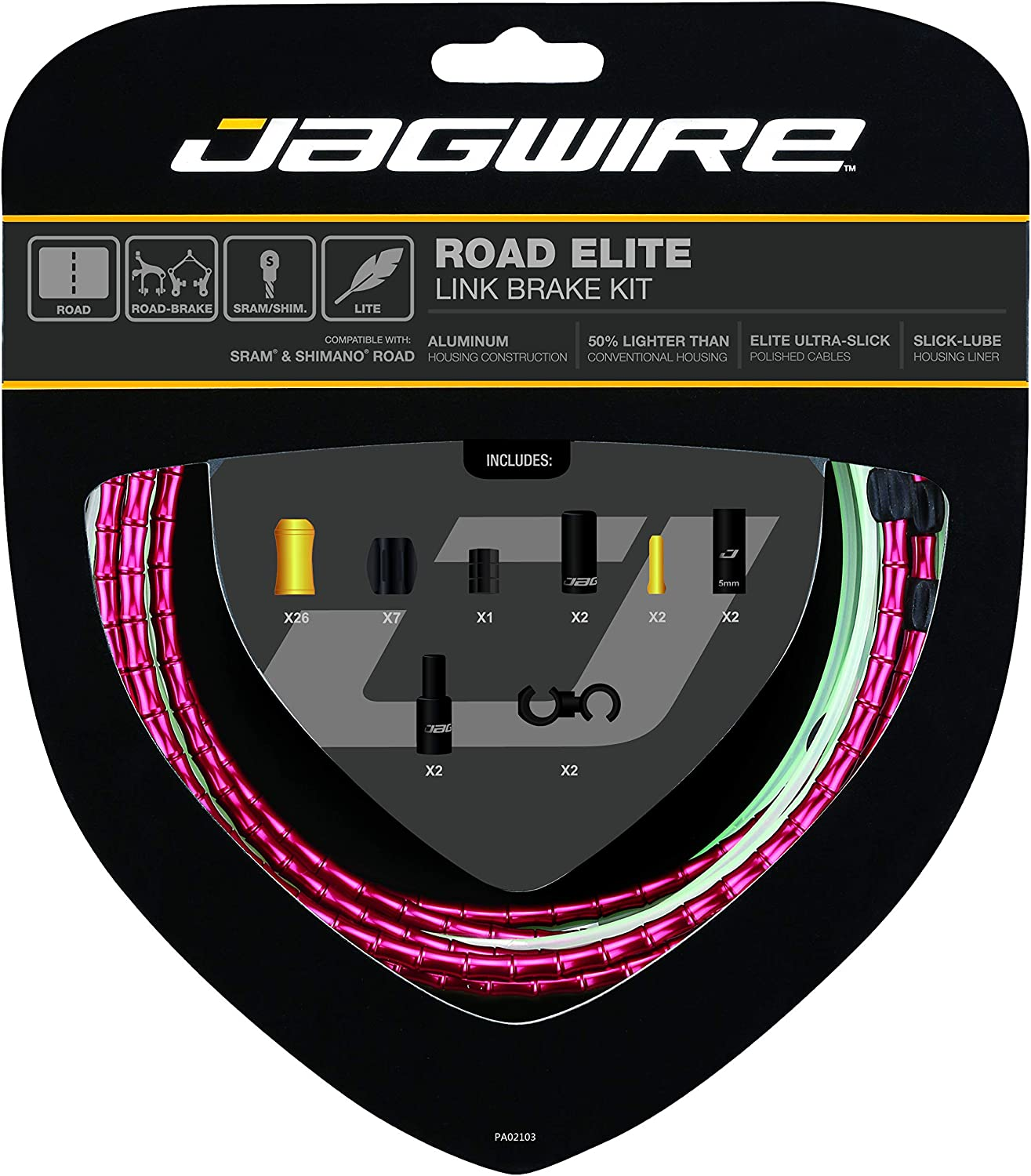 Jagwire - Road Elite Link Brake DIY Kit C New color Cable Cheap mail order specialty store for