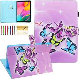 Wallet Case for Huawei MediaPad T5 10 Case - Dteck PU Leather Slim Fit Folding Multi Angle Stand Protective Cover for Huaw...