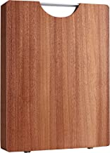 Wood Cutting Board for Kitchen, Large Chopping Board for Meat, Cheese and Vegetables with Easy-grip Handles, Non-porous, D...