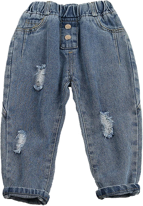 AXYRXWR Newborn Baby Girls Elastic Denim Soft Waist Pocket Regular store Slim Portland Mall